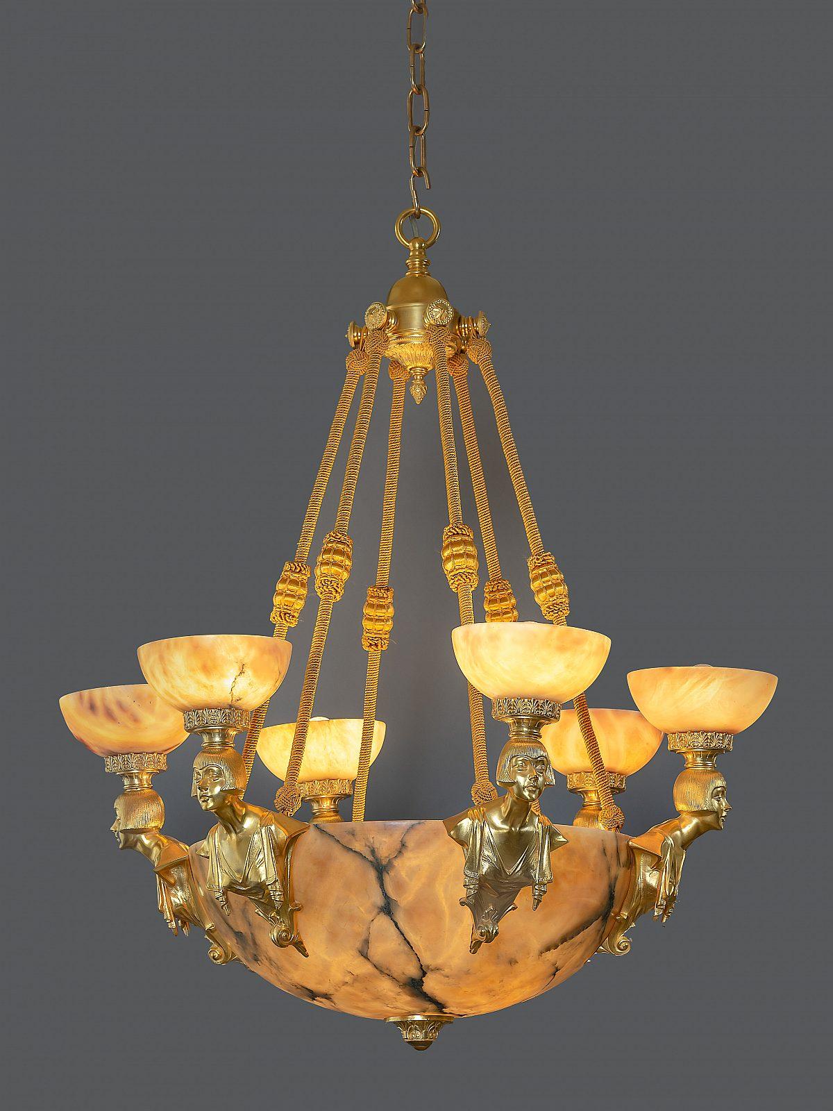 HM Alabaster Leuchtergesamt