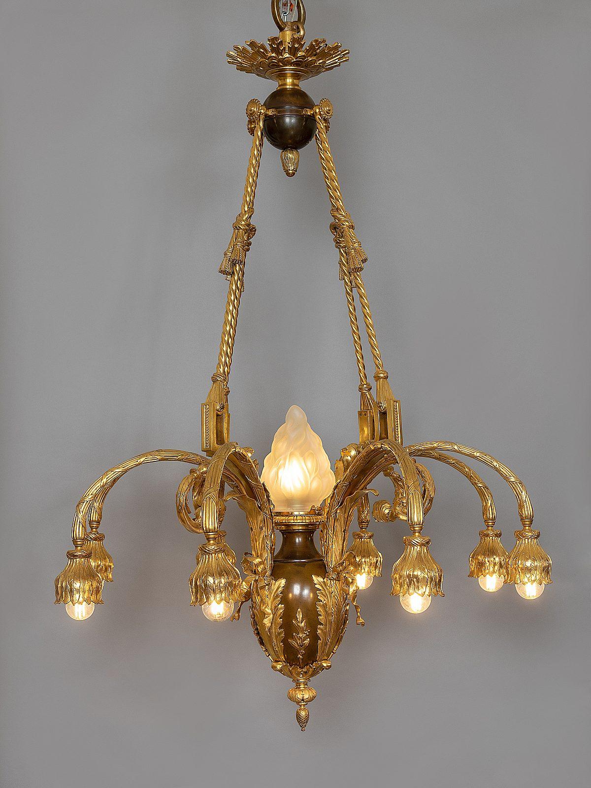 HM Vergoldeter Bronzelustergesamtneu